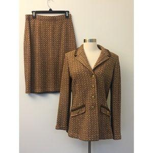 St. John Collection Tweed Boucle Knit Suit Set